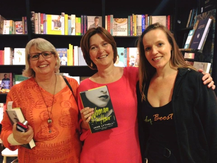 Jane At my launch with lesley and sinnet